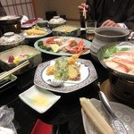 喜楽 - 夕食 11品  よもぎそばが美味しかった~~♥