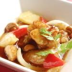 鶏肉とカシューナッツの彩炒め~香醋のパイナップル風味