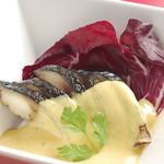 炙りサバの香醋マリネ~香草マスタードソース