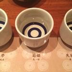 のどぐろ料理と北陸の地酒 せん - ドリンク写真:金沢日本酒飲み比べ どれも美味しいけど、天狗舞いが好きかな〜