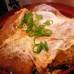 丼丼亭 - カツ丼のアップ