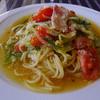 カフェレストラン タツミーヤ - 料理写真:ベーコンとたっぷり野菜のスパゲッティー(塩味)…本日のランチから選択