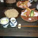 35351347 - 大きなエビ天とお蕎麦のセット(柚子)1600円