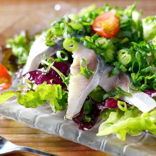 契約農家から届く新鮮野菜の前菜