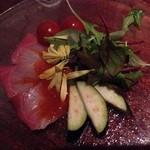 35361291 - 鯛のカルパッチョ 野菜が新鮮