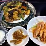 中華料理 龍縁 - 卵ときくらげ炒め定食