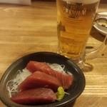 天晴酒場 - マグロ/赤身刺+生ビール