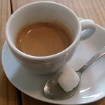 絵音カフェ - ene cafe @中葛西 ランチに付く選べるドリンクはエスプレッソで