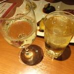 Haruka - 金のぶどうハイボール+白ワイン