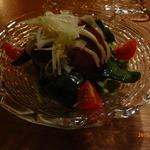 35370004 - ちぢみほうれん草と鴨の燻製のサラダ