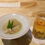 和食 寛 - 料理写真:付き出し(カブと雲子)