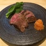 和食 寛 - 飛騨牛のみすじ炙り 1,800円