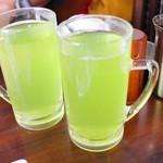 おか田 - 緑茶ハイホット500円+税