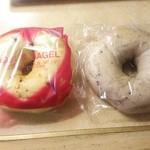 ベーグル&ベーグル - オレンジショコラ190円 ブルーベリー180円