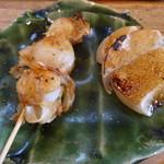 鮨 笹元 - いたや貝の串焼きと炙り山芋