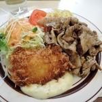 洋庖丁 - 皿盛りC(からし焼き&白身魚フライ)