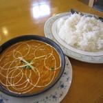 インディアン・レストラン ロタ - 豆カレーと、ライス♪バスマティと日本米のMIX