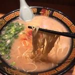一蘭 - 細麺ストレート  カタ麺