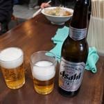 らぁめん めん○ - ビール(小瓶)300円