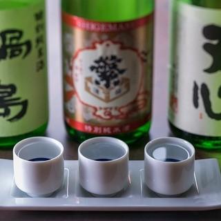 【利き酒セット】お気に入りのお酒をお探しください。