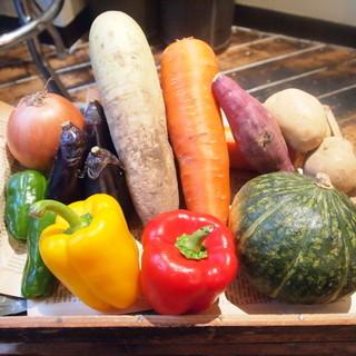 大きな野菜をお召し上がりください!