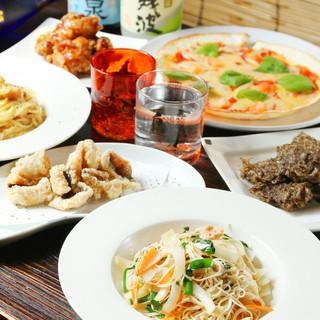 沖縄料理と串カツが楽しめるお店