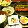 根平 - 料理写真:豚カツおろしポン酢のランチ1080円  ・豚カツおろしポン酢 ・大根、大根葉と鶏ミンチの炒めもの ・イカとわけぎの酢味噌 ・サラダ ・漬物2種 ・味噌汁 ・ご飯