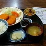 和 - コロッケ定食580円