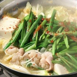 季節問わず人気No.1◆4種類からお味が選べる「もつ鍋」