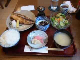 季節料理 なかはら - 鯖の塩焼き定食(850円)