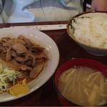 たんぽぽ - 料理写真:生姜焼き定食