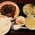 四五六菜館 - 料理写真:ナスの味噌炒め定食