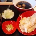 青海岸 - 天ざるの天ぷら