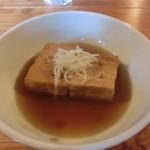 らーめん屋 あやきよ - ちゃー汁豆腐