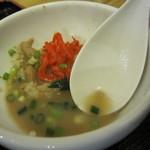 とんこつ とん太 - 〆は「スープ茶漬け」にて・・・フィニッシュ!