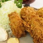とんかつ 末吉 - カキフライ定食(1500円)