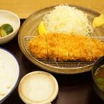 とんかつ武信 - ロースかつ膳(梅・100g・1296円)