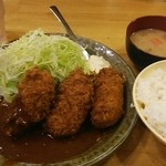洋食工房パセリ - カニクリームコロッケ定食L 1,080円