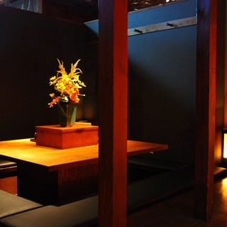 当店人気の多彩な個室は全16室ご用意。