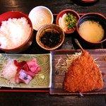三陸 - 郷土料理 三陸 三陸定食 A 800円