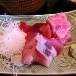 三陸 - 郷土料理 三陸 三陸定食 お刺身 アップ