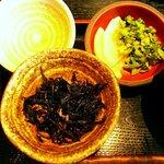 三陸 - 郷土料理 三陸 三陸定食 ひじきとお新香