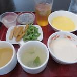 桃杏樓 - スープ、つけもの、デザート、ドリンク♪