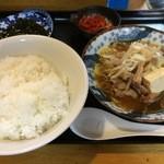 桜園 - ホルモン煮込み定食(ランチ)(他ドリンク付)700円