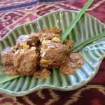 タマンサリ - 牛肉にカレー味に煮込む