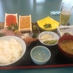 カネシチ水産 - ウニいくら刺身定食1,850円