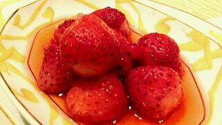 ル サロン ジャック・ボリー - もう一つは苺のコンポート アイスクリームはミルクをチョイス