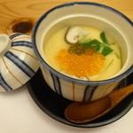 葉四季 - 白子と蟹の茶碗蒸し