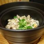 葉四季 - 地鶏の炊き込みご飯