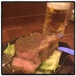 居酒屋しぶやくん - ローストポーク。 超厚切り。 ビールが進んで困る。